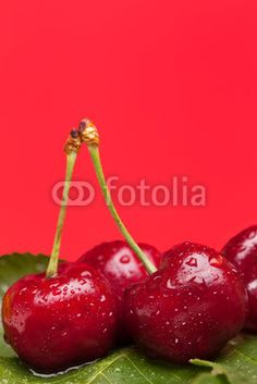 Stock photo at Fotolia: Wet Cherries