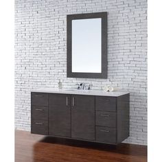 Overstok$1500 Metropolitan Silver Oak 60-inch Single Vanity