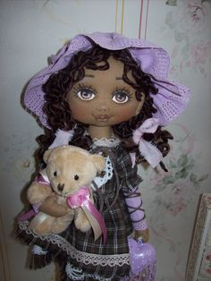 Izabella textile doll by TrixiCreation on Etsy