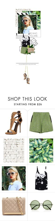 """""""9.18 She's Bad News"""" by monalisas-and-madhatters ❤ liked on Polyvore featuring Giuseppe Zanotti, Carven, Milton & King, TIBI, ALDO, The Row and fashionset"""