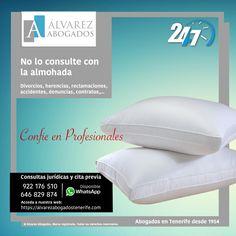 No lo consulte con la almohada. Confíe en Profesionales. https://alvarezabogadostenerife.com/?p=5430