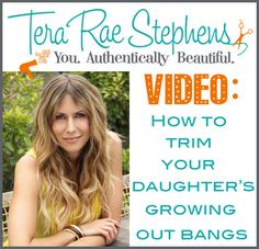 How To #Trim Your #Daughter's #Growing Out #Bangs