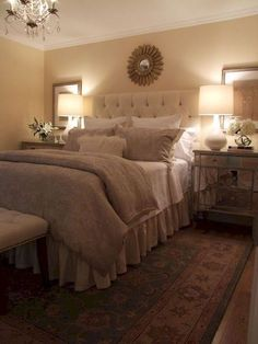 7 Satisfied Tips AND Tricks: Bedroom Remodel Grey Headboards small bedroom remodel how to build.Bedroom Remodeling On A Budget Awesome master bedroom remodel home tours. Cozy Small Bedrooms, Small Master Bedroom, Bedding Master Bedroom, Farmhouse Master Bedroom, Master Bedroom Design, Modern Bedroom, Warm Bedroom, Bedroom Designs, Bedroom Ideas Master On A Budget