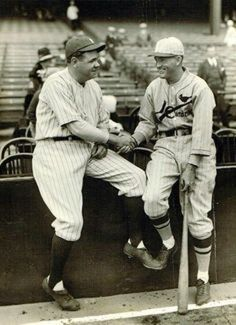 Babe Ruth and Cardinals Manager Roger Hornsby