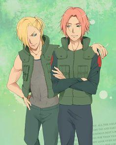 Ino & Sakura (Genderbent version) #Naruto