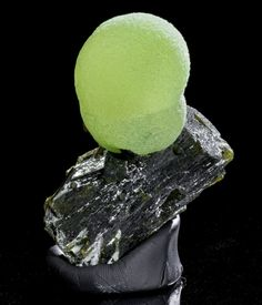 Prehnite Aesthetically Placed on Epidote - Mineral Specimen from Mali