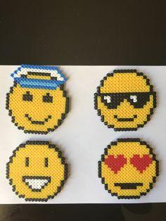 dessous de verre emoji en perle hama