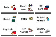 Toy Labels for an Autism Classroom or Special Ed Room!