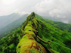 Sahyadri Mountain range, Rajgad, Maharashtra, India
