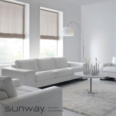 Roman Shades - Roman blinds with a contemporary look and feel. Contemporary Blinds And Shades, Modern Blinds, Custom Shades, Blinds For Windows, Window Blinds, Shades Blinds, Roman Blinds, Roman Shades, Window Treatments