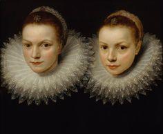 Two sisters, 1610-1615, Cornelis de Vos. Flemesh (ca 1584 - 1651)