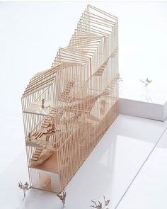 """nexttoparchitects:""""Model by Clare Yang ( using principles of sectional expansion and contraction for the entry studio Making of Design Principles with Jacqueline Shaw ( maquette hout verticaal dak vorm translucent Maquette Architecture, Architecture Design, Architecture Model Making, Conceptual Architecture, Architecture Student, Tectonic Architecture, Architecture Drawings, Model Building, Structural Model"""