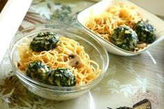A recipe for baked spinach  parmesan balls with Italian seasoned bread crumbs. A great vegetarian substitute to meatballs or can be served with marinara sauce as an appetizer. This one is a winner!