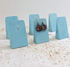 Turquoise Jewelry Display SET of 6 Earring Displays by ArrayandDisplay