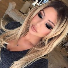 Hair Color Trends 2018 – Highlights All dark smokey eyes with a little highlight ✨ love my new hair color contrast dark roots by I-tip extensions by Inessa V. and style by ❤️❤️ Discovred by : Jess❤Fabbulous Flawless Makeup, Gorgeous Makeup, Love Makeup, Gorgeous Hair, Beauty Makeup, Makeup Looks, Hair Beauty, Beautiful, Sexy Makeup