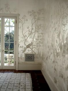 Love the pearl walls and elegant tree and bird design.