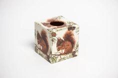 Squirrel  Tissue Box Cover wooden handmade by crackpotscrafts
