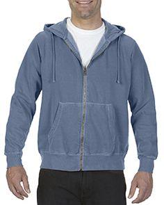 Comfort Colors 1568 - Adult 9.5 oz. Full-Zip Hooded Sweatshirt  #comfortcolors #sweatshirt
