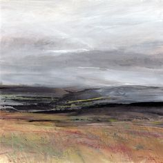 Over the Moors.  Acrylic and mixed media. 40cm x 40cm. (sold).