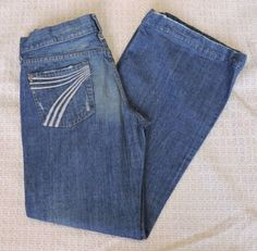 7 For All Mankind Women Dojo Distressed Jeans Size 29 #7ForAllMankind #FlareWideLeg