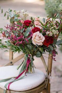 Mixed pink & greens.  #wedding #flowers #bouquet