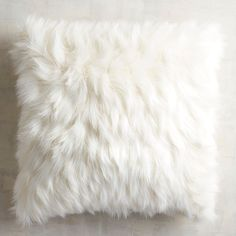 Oversized Ivory Faux Fur Eyelash Pillow Fabulously fluffy, our oversized faux fur pillow is as cozy as it is fashionable, boasting plenty of texture in a pretty. White Fluffy Pillow, Fluffy Pillows, Faux Fur Pillows, Faux Fur Blanket, Faux Fur Throw, Pink Throw Pillows, Cute Pillows, Pillows For Bed, Decor Pillows