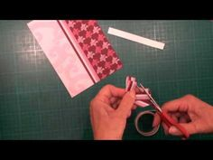 A simple embellsihement to add to your cards, and very easy to make. Use ribbon too when you get the hang of it.