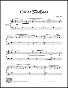 The Elementary Music Education Site with Sheet Music, Music Lesson Plans, Music Theory Worksheets and Games, Online Piano Lessons for Kids, and more. Christmas Piano Sheet Music, Easy Piano Sheet Music, Christmas Music, Music Sheets, Free Printable Sheet Music, Free Sheet Music, Piano Digital, Music Theory Worksheets, Music Lessons