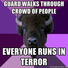 """so true haha running back to every set """"don't kill me!"""" """"avoid color guard!"""""""