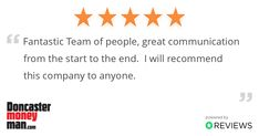 Another satisfied customer. Thank you for the great feedback!  Your Local Mortgage Advice Team - We're always happy to help.  #MortgageAdvisorsDoncaster #BookYourFreeConsultation