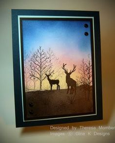 Crafting The Web: Deer at Sunset (photos added)