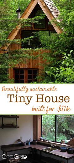 A Rustic Cabin in Montana's Prestigious Yellowstone Club Tiny House Village, Building A Tiny House, Tiny House Plans, Cabins In The Woods, House In The Woods, Modern Tiny House, Tiny House Movement, House Built, Little Houses