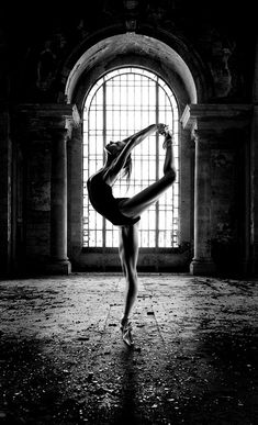Abandoned Building Ballet | mono, ballet dancer, Jacksonville, Florida by Greg Waters