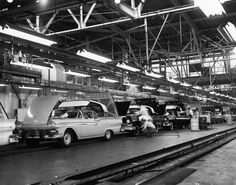 1957 Ford Assembly Line-- Obviously everything in the book is based on a time period that is A.F. (After Ford), so Ford is basically like a god/equivalent to Jesus in society today (B.C.= before Christ).  However, Ford also created the assembly line, which is the root of society in BNW, as babies are basically made in a factory with a big assembly line. -Elana