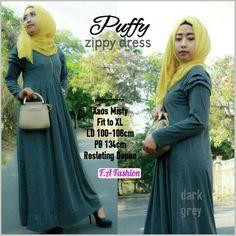 FREE ONGKIR PONTIANAK> Puffy zippy dress @162.000,order WA 082255698636,pin BB 578FE11F, fb group MOM SHOP