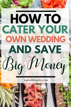 Catering your own wedding is easier than you think! Read this guide on exactly how to cater your wedding reception's food and save big money. reception food Cater Your Own Wedding & Save Big Money Cheap Wedding Food, Wedding Food Catering, Wedding Receptions, Wedding Buffet Food, Wedding Appetizers, Diy Wedding Reception Food, Catering Food, Wedding Parties, Wedding Menu