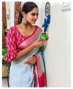 Cotton Saree Blouse Designs, Bridal Blouse Designs, Blouse Patterns, Sari Blouse, Pattern Blouses For Sarees, Kalamkari Blouse Designs, Indian Blouse, Ruffle Blouse, Simple Blouse Designs