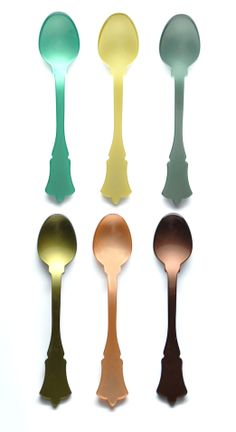 Mixed Greens Teaspoons, set of 6. $34   http://www.leifshop.com/product/mixed-greens-teaspoon-set