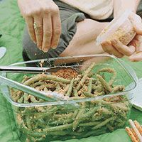 Green Beans with Peanut-Ginger Dressing, Rachael Ray.