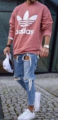 fashion menswear outfits Denim sweater mens men shirt hoodie wear style fashstop tracksuit vans converse street fash stop jeans ripped jeans denim shirts jacket hoodie boots tee Shorts Summer abs gym workout