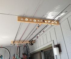 Fishing Pole Storage - Great for Apartment, Shed or Garage!http://www.instructables.com/id/Fishing-Pole-Storage-Great-for-Apartment-Shed-o/
