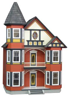how to paint a wooden dollhouse - Google Search