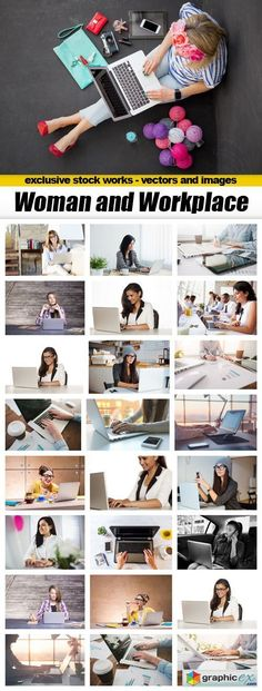 Woman and Workplace  25xUHQ JPEG  stock images