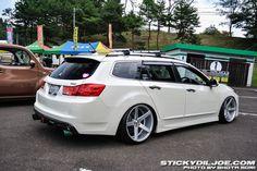 #Acura_TSX_Wagon #Slammed #Stance