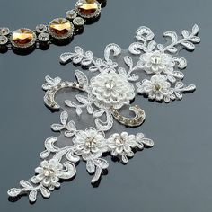 5 Meters 3.5cm Width Gorgeous Classic Lace Necklace Materials Water Venice Moon Star Embroidery Lace s Lace Craft