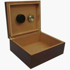 25-cigar Humidor Dark Burlwood Finish by Other Quality Humidors. $31.93. Color: Dark Burlwood. Holds 25-40 cigars in optimal condition. Features Spanish cedar lining, solid brass hinges, humidifier and hygrometer. Interior dimensions: L 9-1/4 x W 7-3/4 x H 2-7/8 {235mm x 197mm x 73mm}. Holds 25 to 40 cigars in optimal condition. Features Spanish cedar lining, solid brass hinges, humidifier and hygrometer. Size: 10 1/4 x 8 3/4 x 4 1/8 inches. Great humidor at an...