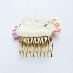 Милый и оригинальный гребень волос сутаж, MrOsOutache на Etsy