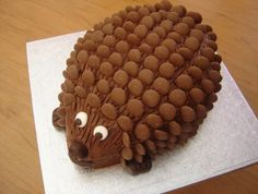 Hedgehog Cake Made With Chocolate Buttons