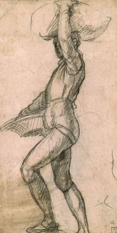 Andrea del Sarto | 1486-1530 Young Man Taking a Step, with a Basket and Balancing a Sack | The Morgan Library & Museum