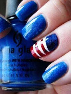 Best of Pinterest: Patriotic Nails | 29secrets
